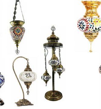 Catálogo de venta con los tipos de lampara turca